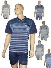 Herren Schlafanzug Shorty Shirt und Hose kurz 2-tlg Pyjama in mehreren Farben
