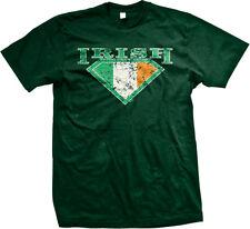 Super Irish Diamond Flag Ireland Pride St Patricks Day Eire Mens T-shirt