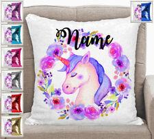 Personalised Unicorn Magic Sequin Mermaid Cushion Cover 7 Colour Choices