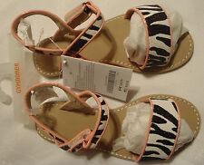 Gymboree Animal Party Black Sparkle Zebra Sandals Summer Shoes NWT Easy Close
