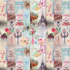 Paris in Bloom Blumen Eiffelturm Digitaldruck 100% Baumwolle Stoff 140cm