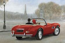 Marco Fabiano: A Ride in Paris III Keilrahmen-Bild Leinwand Oldtimer Paar Cabrio