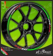 Strisce adesive cerchi ruote moto Ducati Tricolore green white red
