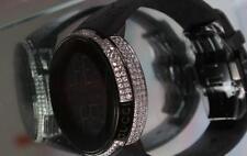 New Men's YA114207 digital  Gucci  real white  Diamond  Multiple Time Zone watch