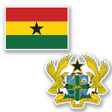 2 X 10 Cm Ghana Bandera pegatina de vinilo de equipaje de viaje Ipad Laptop Casco coche # 4857