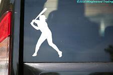 """Baseball Batter vinyl decal sticker 3.5"""" x 5.5"""" Player Hitter Little League"""