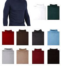 Herren Rollkragen Polo Pullover 100% Baumwollpullover - Brust Größe 96.5cm-122cm