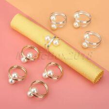 10 x Pearl Napkin Rings Wedding Dinner Pearl Serviette Buckle Holder Party Decor
