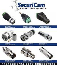 CCTV BNC COAX CRIMP VIDEO RCA PHONO RG59 BALUN UTP CAT5 CONNECTOR JOINER COUPLER