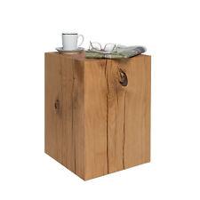 Hocker 30x30x45 cm Holz Eiche Massivholz Holzblock Sitzklotz Holzklotz