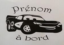 Sticker Cars bébé à bord avec prénom personnalisé