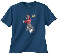 Jack Wolfskin Kids Soccer navy T-Shirt Kindershirt Fußball Fußballshirt