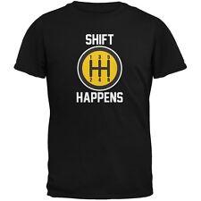 Shift Happens Black Adult T-Shirt