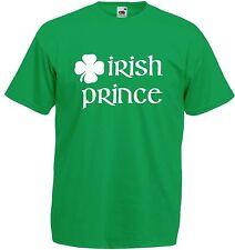 Kids Irish Prince/ss T-shirt - Green Boys Girls Ireland St Patricks Day Gift Top