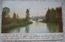 1906 Milwaukee River, Washington Road Bridge Postcard