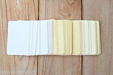 LINEN MINI Business Cards 50pc blank Lakeland DIY escort cards craft name cards