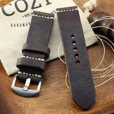 Handmade Vintage 406 Leather Minimalist Watch Strap (18mm, 20mm, 22mm, 24mm)