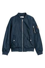 H&M  Wattierte Pilotenjacke Gr. 134, 140, 146,152,164,170 khaki / blau NEU