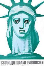 Soviet Union Anti USA Cold War Poster  A3/A2 Print
