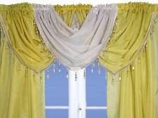 Silver Crystal Beaded Sparkle Swag Pelmet Valance Voile Net Curtain Swag Single