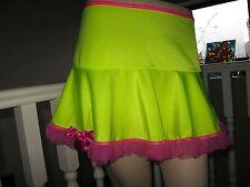 UV Yellow Pink Micro Skirt Clubwear,Lolita,Rock,Punk