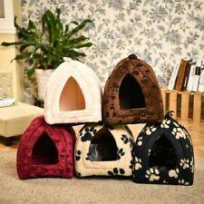 Cat Dog Cave House Pet Warm Cotton Bed Pet Lovely Soft Suitable Cushion Kennel