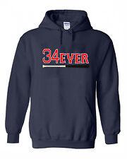 "David Ortiz Boston Red Sox Big Papi ""34 Forever"" jersey Hooded SWEATSHIRT HOODIE"