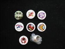 DC FLASHPOINT PIN AND RING LOT OF 8 SUPERMAN AQUAMAN HAL JORDAN