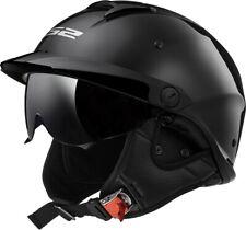 LS2 Rebellion HH590 Solid Half Helmet Black