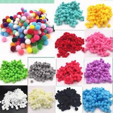 wholesale! New 100 pcs 8mm DIY Crafts mixed Color Mini Fluffy Pom poms Ball Felt