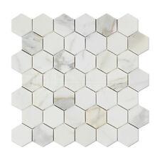 Calacatta Gold (Italian Calcutta) Marble 2 inch Hexagon Mosaic Tile