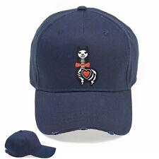 Skeleton Llama Funny Embroidered Vintage Hat Cap Beanie Snapback Weathered