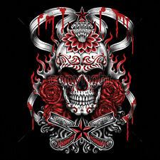 Demon Sugar Skull Diamond Day Of The Dead Dia De Los Muertes Tattoo T-Shirt Tee