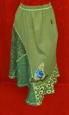 ethnique boho hippie hippy Jupe HUMMINGBIRD COLIBRI vert-bleu