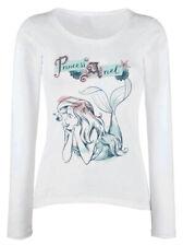 Disney la Sirenetta' Princess Ariel 'Vestibilità da Donna Manica Lunga - Nuovo
