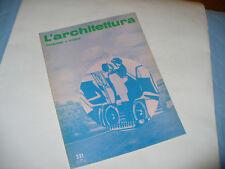 BRUNO ZEVI L'ARCHITETTURA CRONACHE E STORIA N.231 1974