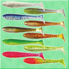 Fishing Soft Lures 12cm 5'' Jig Head Shad Bait Ripper Twister Pike Zander Kopyto