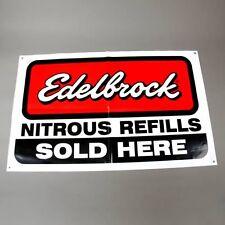 Edelbrock Nitrous Refills Sold Here Banner Flag Holley NOS ZEX Drag Race OzNos