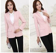 Elegante Tailleur completo donna nero rosa giacca manica lunga pantaloni  7126 487c8511505