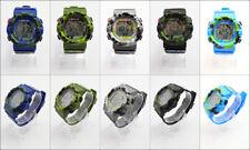 Reloj Deportivo para hombres Diseño Camuflaje Militar Con Pantalla Digital