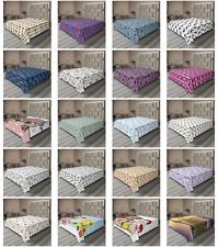 Ambesonne Animals Print Flat Sheet Top Sheet Decorative Bedding 6 Sizes