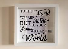 IKEA RIBBA Cornice Di Vinile Personalizzato Wall Art preventivo le madri giorno Famiglia Amore