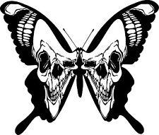 Skull Butterfly Wings Moth Car Truck Window Laptop Vinyl Decal Sticker