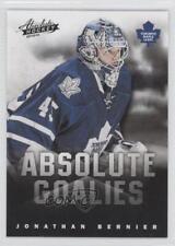 2013 Panini Boxing Day Absolute Goalies #9 Jonathan Bernier Toronto Maple Leafs