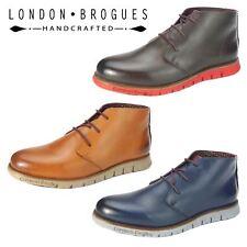 London Brogues Gatz Chukka Leather Lightweight Flexible Mens Ankle Boots