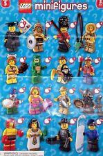 Lego Minifigure Series 5 Figures 8805 Graduate Lizard Man Clown Egyptian Queen