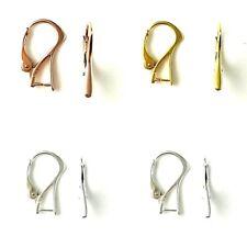 Sterling Silver 24K Plaqué Or 18K plaqué or rose 20x11mm Leverback Boucles D'oreilles