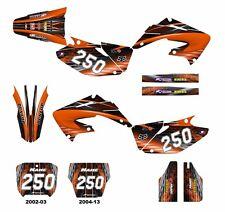 CR 125 250 graphics 2002 2003 2004 2005 2006 2007 - 2013 decal kit #3333 Orange