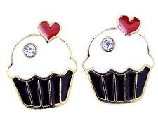 Vintage Art Deco retro style cupcake charm earrings multiple choices