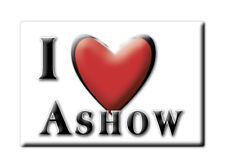 SOUVENIR UK - ENGLAND FRIDGE MAGNET UNITED KINGDOM I LOVE ASHOW (WARWICKSHIRE)